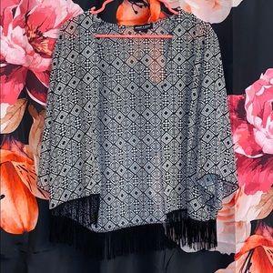 Tribal Fringed kimono